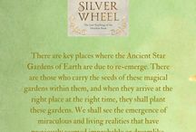 Silver Wheel: The Lost Teachings of the Deerskin Book / A book, inscribed in gold, silver and sapphire inks, found in the forest, a transmission of wisdom from the Elven Ones of Lemuria for the New Dawn on earth ~ by Elen Tompkins