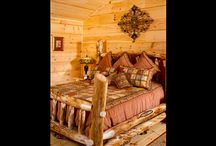 Bedrooms | Strongwood Log & Timber Homes / A collection of bedroom images from Strongwood log, timber, and hybrid homes.
