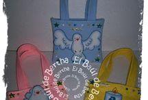 Bolsitas en Fieltro / Bolsas de mano para niñas, fiestas infantiles y/o souvenir