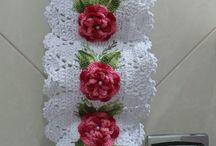 porta papel em crochê