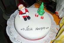 Ideas para navidad! / Preciosa tarta de navidad, preparada con fondant.