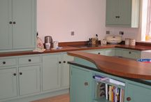 New painted and maple kitchen / A beautiful bright and cheerful kitchen in East Sussex