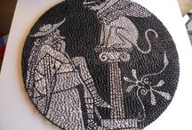 DIMITRIS / Battle of Marathon pebble stones art