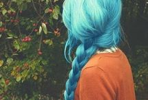Blue Hair / The most beautiful blue dyed hairstyles