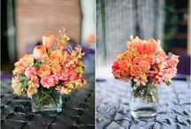Orange Weddings / Orange Wedding Decor ~ Orange Bridesmaids Dresses ~ Orange Boutonnieres ~ Orange Centerpieces ~ Orange Tablescapes ~ Orange Flower Arrangements ~ Orange Wedding Cakes
