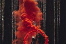 S M O K E / colorful smoke bombs.