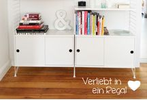shelving & small desk space