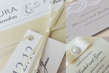 Ivory wedding invitations and stationery