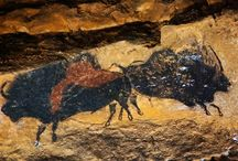 Stone Age Art / Cave paintings of wild animals from the stone age