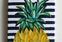 pineapple painting ideas