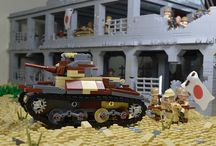 Lego Military Battle scenes