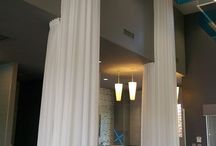 Drapes, curtains, & cornices / Different types of drapes, curtains, cornices, valances which EYM has reupholstered or repaired!