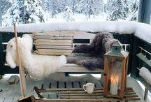 Terrace in winter ideas