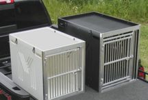 The Dog Kennel / MobileStrong's Dog Kennel is a heavy duty kennel, built with the same sturdy construction as our storage drawers. We mean business when it comes to the safety of your hunting partner or canine companion. Our dog kennel comes in 2 sizes (medium and large) and is available in white or black.