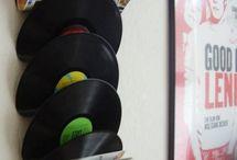 Vinil / http://caroldoria.com/2015/06/decoracao-disco-de-vinil/