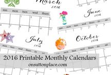 free 2016 printable monthly calendar