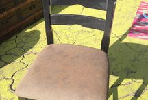 Rehabbing old chairs / Refinished chairs