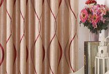 Elegant Comfort Red Color Jacquard Look Curtain Panel Set