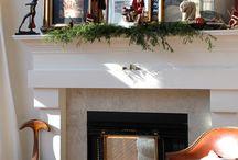 Fireplace mantel / by Ann Eppley