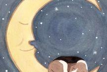 Dog Art (Sleeping Moon)