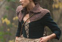 Outlander / Les vêtements (col, châles, etc) tricotés de Claire Fraser