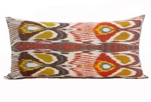 i love ikat / In Uzbek, the term used for ikat is 'abrbandi'; literally `to tie a cloud'. According to legend, the first ikat artisan drew inspiration to weave a shimmering, patterned cloth from seeing clouds reflected in a pool of water. Each silk and cotton (adras) swath is hand-dyed and hand-loomed in the Fergana Valley of Uzbekistan using a centuries-old technique, which encompasses upwards of 37 separate stages. (Credit: shoplatitude.com)