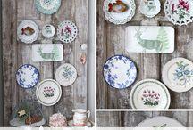 Vintage plate walls