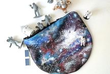 Hand Painted LeatherCanvas Galaxy Collection by Pagur / www.pagurdesign.etsy.com