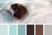 Modra -hneda farba