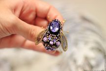 BROOCHES INSECTS