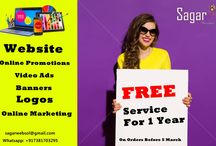 Services I Provide / I Provide these SERVICES *Websites (All types) *Video Editing (Tv Shows, Music Videos, Tv Ads) *Graphics Design (Banners, Logos, Flyers, Business Cards etc) *Mobile Portals (Mobile websites, applications) *SEO (Search Engine Optimization for your business to get more customers online) *Photo Editing *Online Marketing *Online Applications *Online Security for your websites. *Social Network Ads (White Traffic, Targeted) *Animations (Flash, Gif, Swf) Email: sagarwebsol@gmail.com