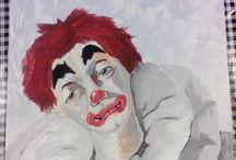 treurige clown / Van eigen hand