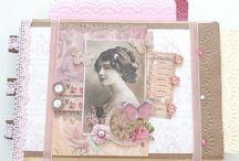 Mes albums photos / Réalisé avec une base d'enveloppe craft! Dimension de l'album photo 28 x 20 x 6 cm environ avec pochette sur le côté et en haut.
