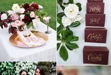 Burgundy und Greenery Wedding