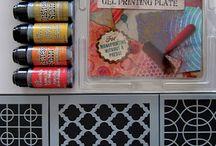 Gelli / Gelli plate printing. #Gelli / by Faith Cohen