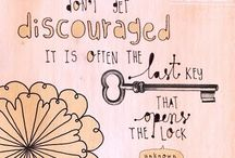 Key to Success / Don't get discouraged. It Is often the last key that opens the lock.