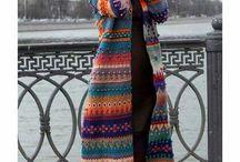 Casacos compridos de crochet