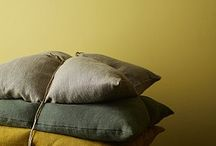 """Colour Combinations: Yellows & Greys / Modernise your space by using yellows and greys. This on-trend colour combination can be used in many ways. Use grey as a base colour and add splashes of yellow, or go even bolder and use a vivid yellow base with accents of grey. Our top yellow carpet picks are """"Turmeric' & 'Mead' from our Westend Velvet Collection and our grey top choices are 'Ash' and 'Black Pearl'."""