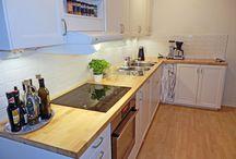 Bänkskivor Massivträ / Bänkskivor i massivträ som passar till olika kök bl a Ikea.