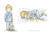 Amanda Francey's Illustrations of children / Various illustrations by children's book illustrator, Amanda Francey.