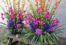 flower arrangements / flower arrangements made by our very handy florists...