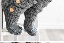 crochet boots/slippers