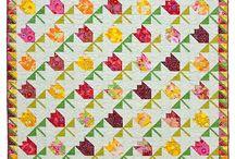Tulip quilts and appliqué