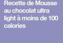 Desserts moins de calories