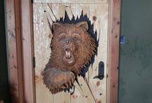 баня дверь
