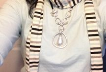 Jewelry & Scarves / Premier Designs Jewelry combos with scarves. #premierdesigns