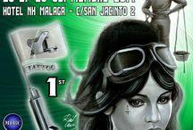 Málaga Tattoo Convention / Posters de todas las ediciones de la Málaga Tattoo Convention.