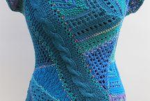 вязание кофты лоскуток