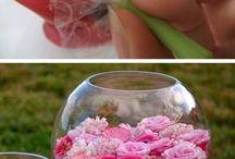 układane kwiaty
