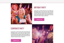 party planners landing page design